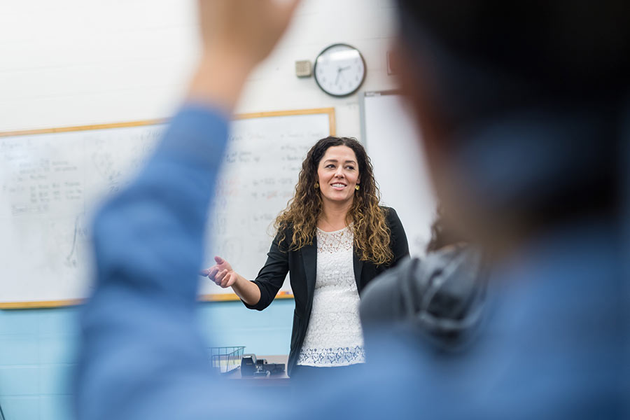 woman presenting in classroom